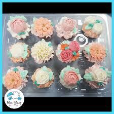 pastel tea party bridal shower floral cupcakes nj blue sheep