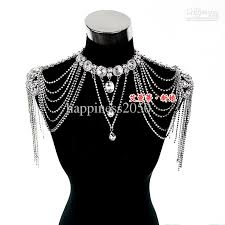 sell high quality bride shoulder chain bridal beads wraps