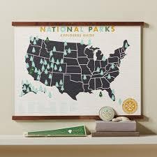 Framed World Map by Track Your Adventures National Parks Framed Map Set National