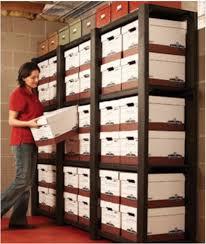 cajas de cartón para organizar documentos saving space ideas