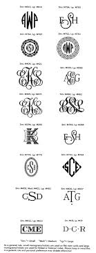 initials monogram william arthur monograms and initials