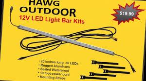Waterproof Led Light Bar 12v by Hawg Outdoor 12v Led Light Bar Kit Youtube