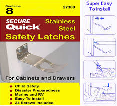 Cabinet Door Locks Latches by Secure Quick Cabinet Locks U0026 Straps Cabinet Door Safety Latch