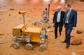 esa robotic exploration of mars inspecting a rover at the mars