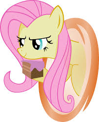 image fluttershy has a piece of cake png my little pony fan