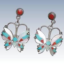 rositas earrings rosita wallace zuni butterfly dangle earrings uchizono gallery
