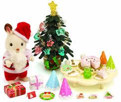 sylvanian families christmas party set amazon co uk toys u0026 games