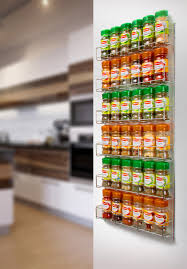 Wall Mount Spice Rack With Jars Chrome Spice Rack