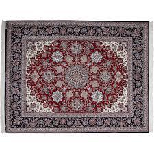 6 X 8 Area Rug Isfahan Red Wool Area Rug 6 U0027 6