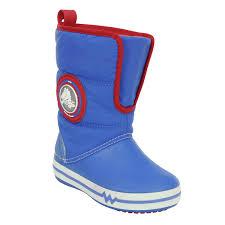 crocs light up boots jerry wellies rot blau