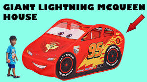look it u0027s a giant lightning mcqueen house tent from disney cars 3