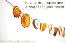 diy dried apple and orange slice garland the happier homemaker
