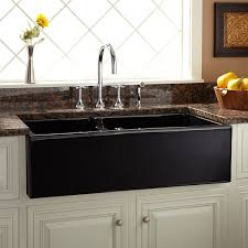 Lowes Apron Front Sink by Kitchen U0026 Bar Fabulous Kitchen With Double Bowl Black Fireclay