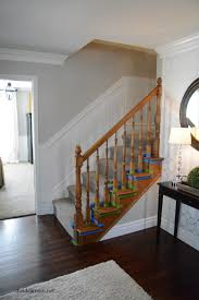 Replacing Banister Spindles How To Stain An Oak Banister The Idea Room