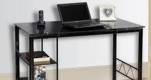 Black Glass L Shaped Computer Desk 100 Tempered Glass L Computer Desk Corner L Shaped Office