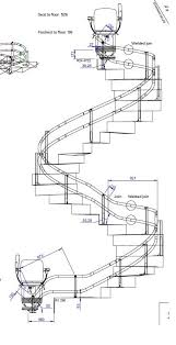 curved stair lift san francisco our stair lift on a spiral staircase