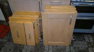 beech kitchen cabinet doors kitchen cupboard doors ebay