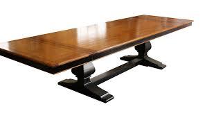 monaco dining table elizabeth mahogany trestle dining table u2013 mortise u0026 tenon