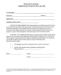 notice form in word california 30 day notice to terminate tenancy