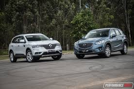 renault koleos renault koleos vs mazda cx 5 2wd suv comparison video