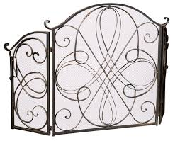 home loft concepts oxford 3 panel iron fireplace screen u0026 reviews