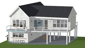 elevated house plan beach superb cottage plans on pilings for