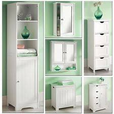 Bathroom Storage Units Free Standing Free Standing Bathroom Cabinet Ebay