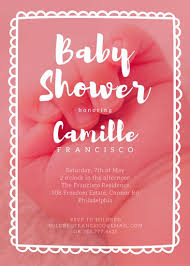 baby shower invites for girl baby shower invitation templates canva