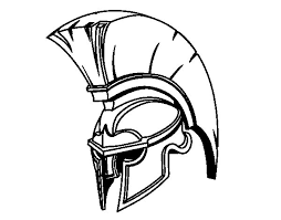 roman warrior helmet coloring coloringcrew