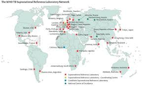 World Of Work Map by Who Who Tb Supranational Reference Laboratory Network