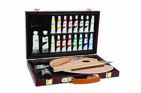 com darice 1103 083 studio 71 27 piece acrylic painting set wood box