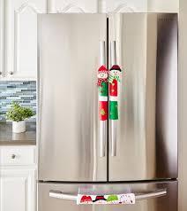 amazon com snowman kitchen appliance handle covers set of 3