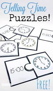 free telling time puzzles telling time puzzles and 1st grades