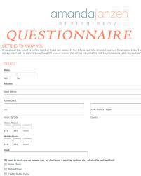 Home Design Questionnaire For Clients Client Questionnaire Getting To Know You Amanda Janzen