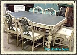 dining room set chalk milk paint redo hometalk