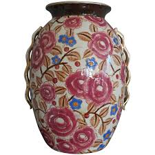 elephant vase ceramic pair of boch la louviere ceramic vases with elephants at 1stdibs