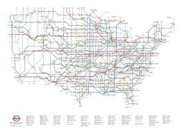 My Subway Map by U S Routes As Subway Map The Latest In My Series Transit Maps