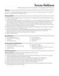 resume profile vs resume objective program manager resume objective resume for study