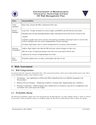 risk management plan template documents and pdfs service plan