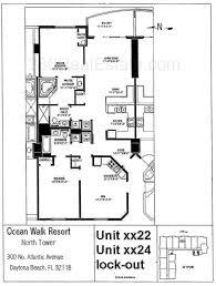 Beach Floor Plans Ocean Walk Floor Plans Daytona Beach Condos Florida Condominiums