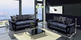 Luxury Leather Sofa Set Sharon 3 2 Seater Sofa Set Brown Or Black And Grey Fabric Leather