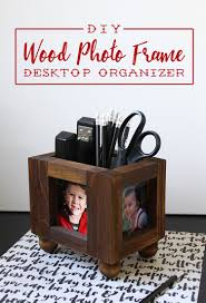 the craft patch diy wood picture frame desktop organizer