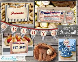 baseball baby shower ideas baseball baby shower decorations etsy