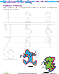 rainbow numbers practice writing numbers 1 10 writing numbers