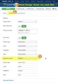 customize filter module template