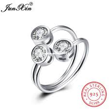 sted rings dhgate unique jewelry 3 zircon 100 925 sterling silver