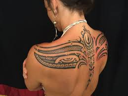 bold u tribal tattoos for pics back style and