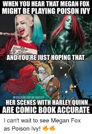 Megan Meme - megan fox poison ivy meme comic other memes pinterest poison