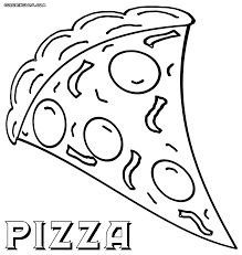 pizza coloring page