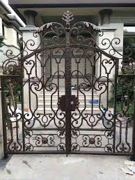Custom Size Steel Exterior Doors Hench Luxury Wrought Iron Gate Hc Lg1 Custom Size Acceptable In